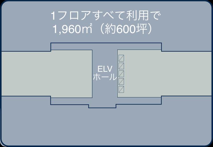 12F / 全室 1,960㎡(約600坪)